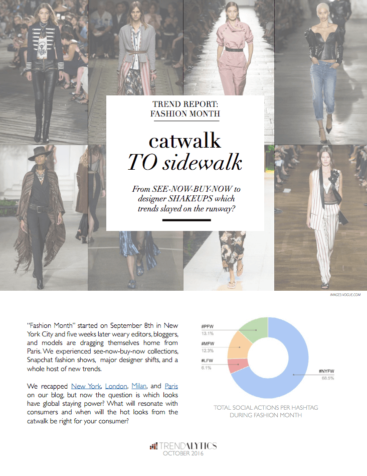 cover page of report on fashion week spring summer 17