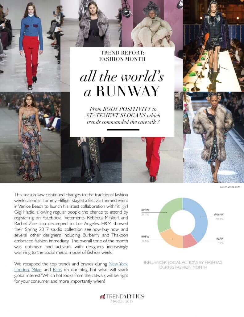 fashion month fall 2017 report
