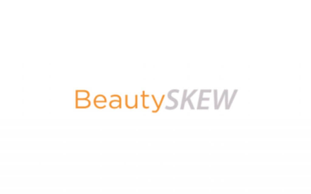 beautyskew logo orange and grey
