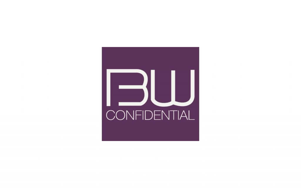 beauty confidential logo white on purple