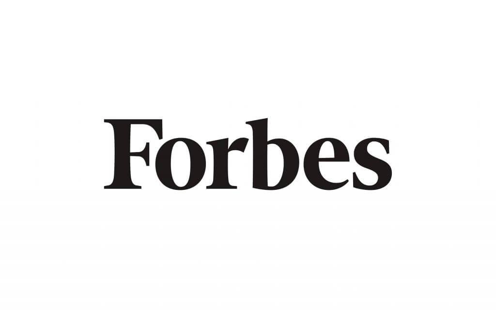 forbes magazine logo in b&w