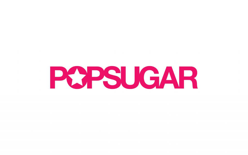 pop sugar logo hot pink