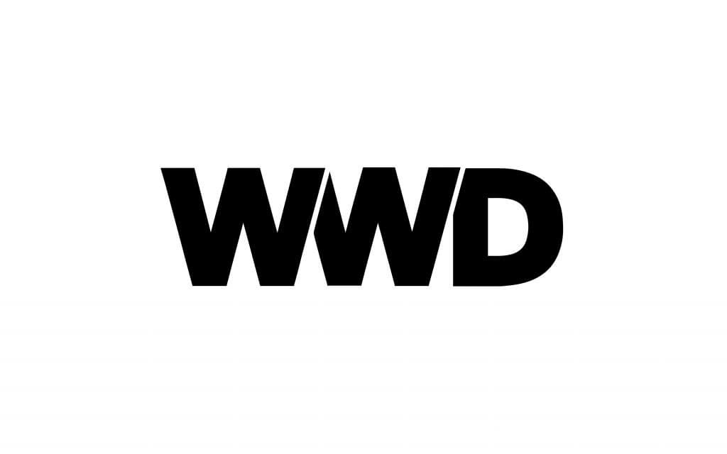 womens wear daily logo in black and white